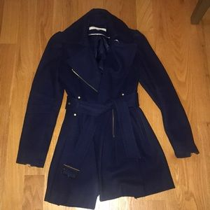 Kenneth Cole Navy Wool Peacoat